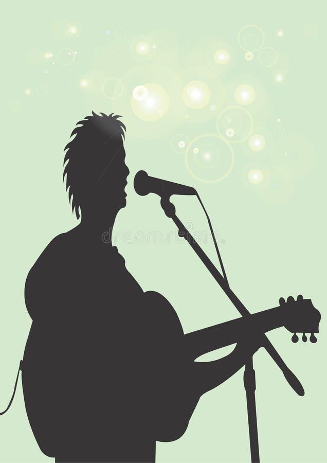Download De speler van de gitaar stock illustratie. Illustratie bestaande uit art - 282371