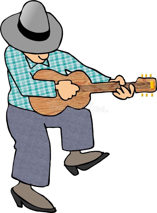 Download De Speler van de gitaar stock illustratie. Illustratie bestaande uit mens - 44332