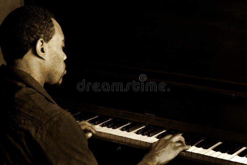 De Speler van de Piano van de jazz stock afbeelding