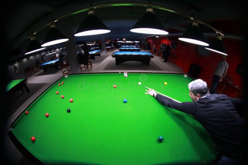 De speler van de snooker royalty-vrije stock fotografie