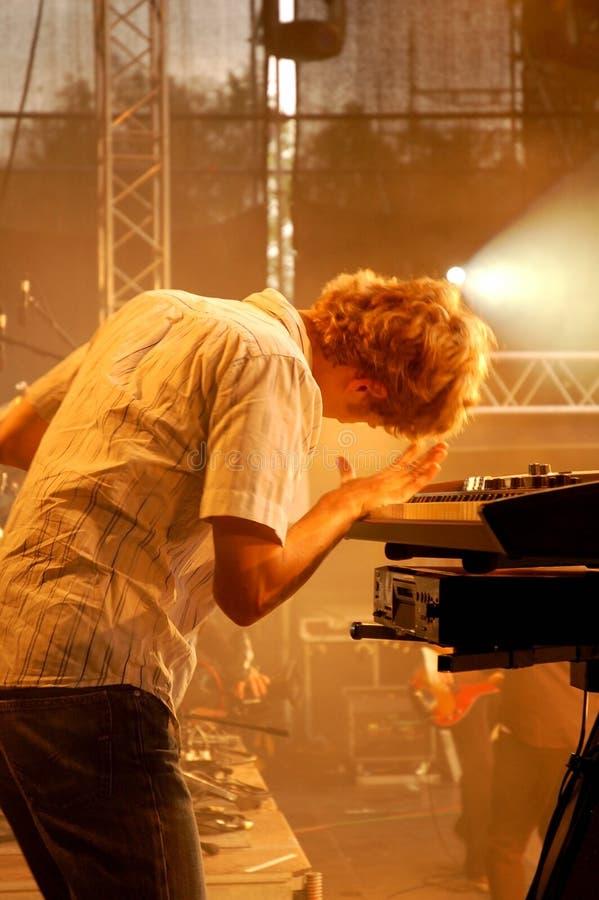 De speler van de synthesizer royalty-vrije stock foto's