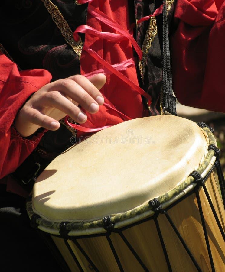De speler van de trommel stock afbeelding