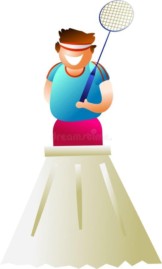 De speler van het badminton stock illustratie