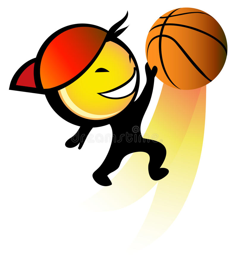 De speler van het basketbal royalty-vrije stock afbeelding