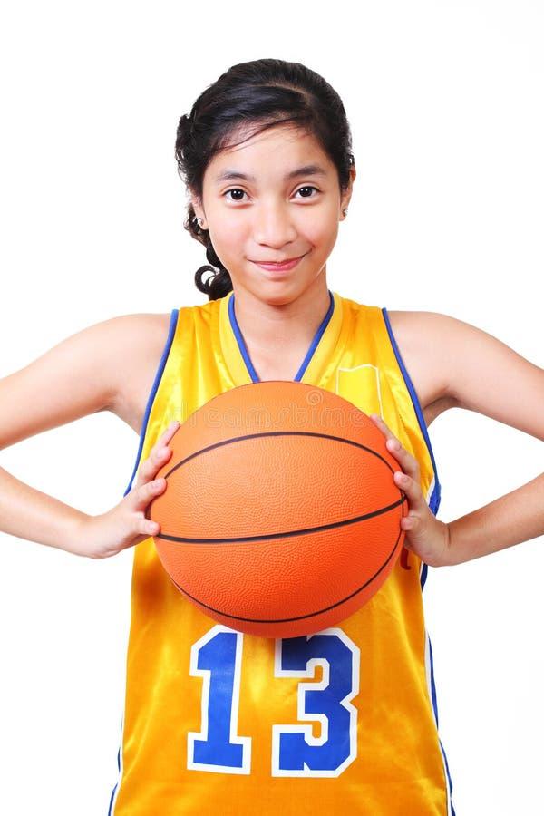 De speler van het basketbal stock afbeelding