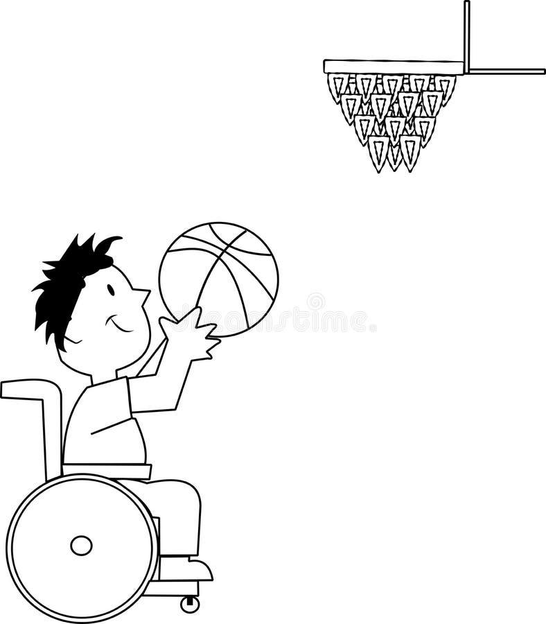 De speler van het basketbal vector illustratie