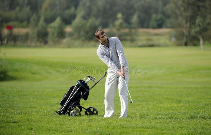 De speler van het golf royalty-vrije stock afbeeldingen