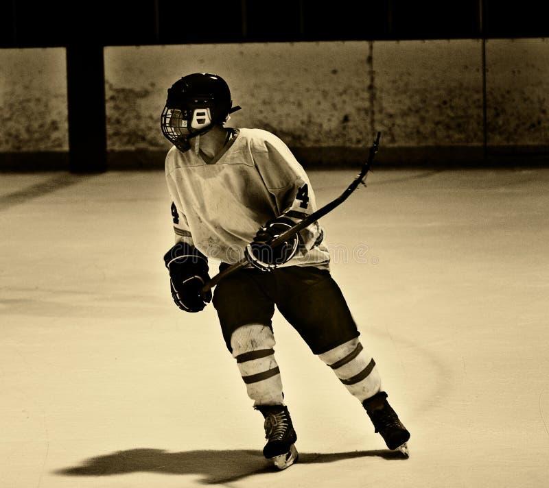 De Speler van het hockey royalty-vrije stock afbeelding