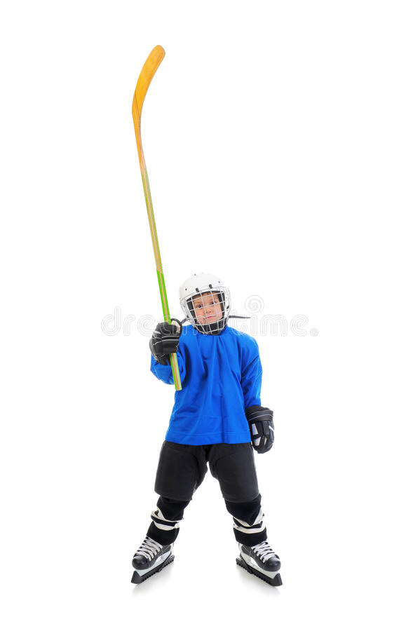 De Speler van het Hockey van Little Boy royalty-vrije stock afbeelding