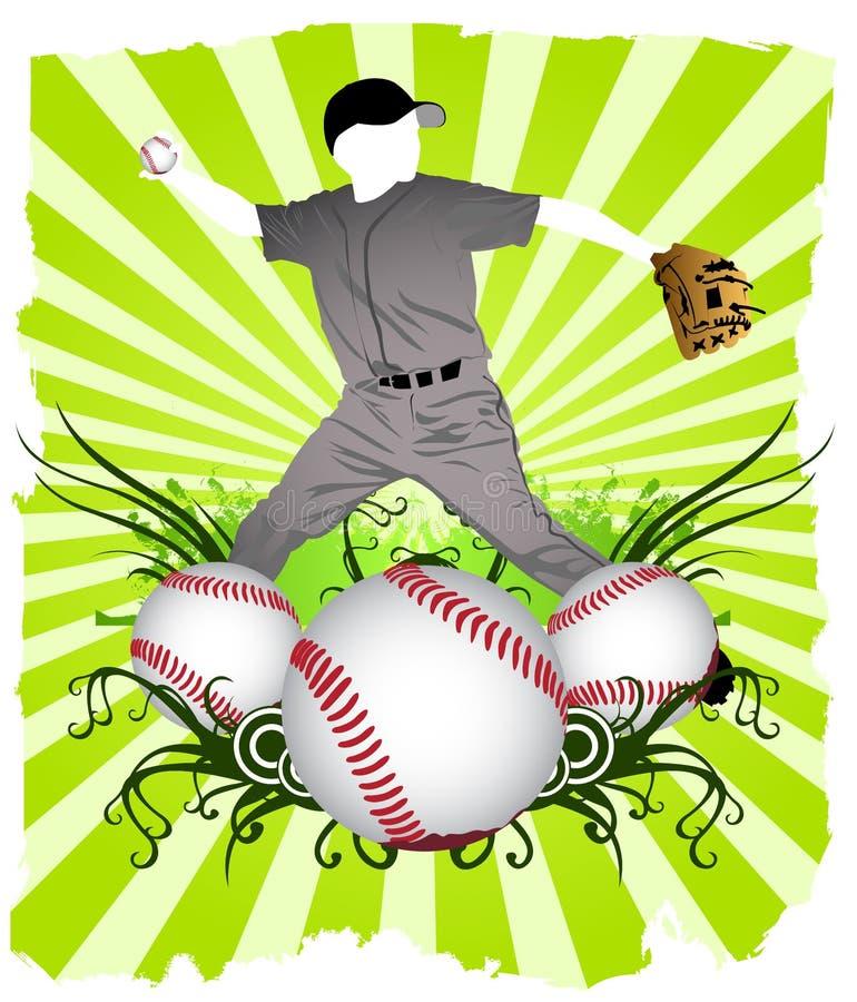 De Speler van het honkbal vector illustratie