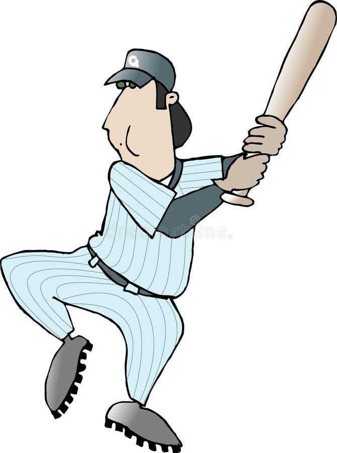De Speler van het honkbal royalty-vrije illustratie