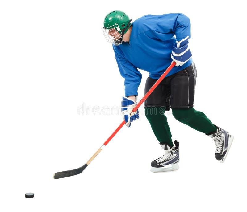 De speler van het ijshockey stock afbeelding