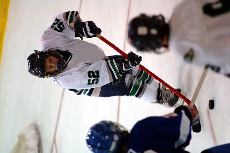 De speler van het ijshockey