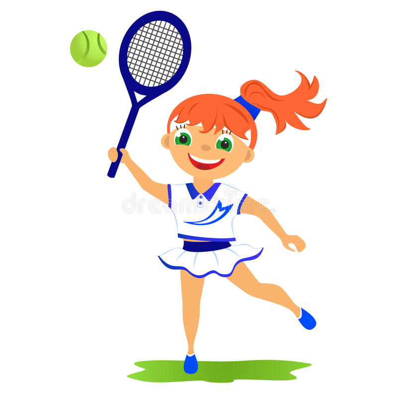 De speler van het meisjestennis vector illustratie