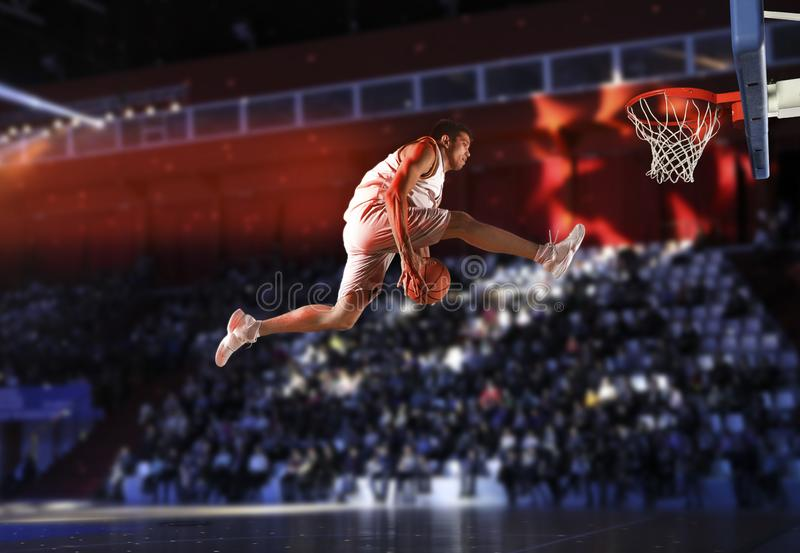 De speler van het mensenbasketbal stock foto's