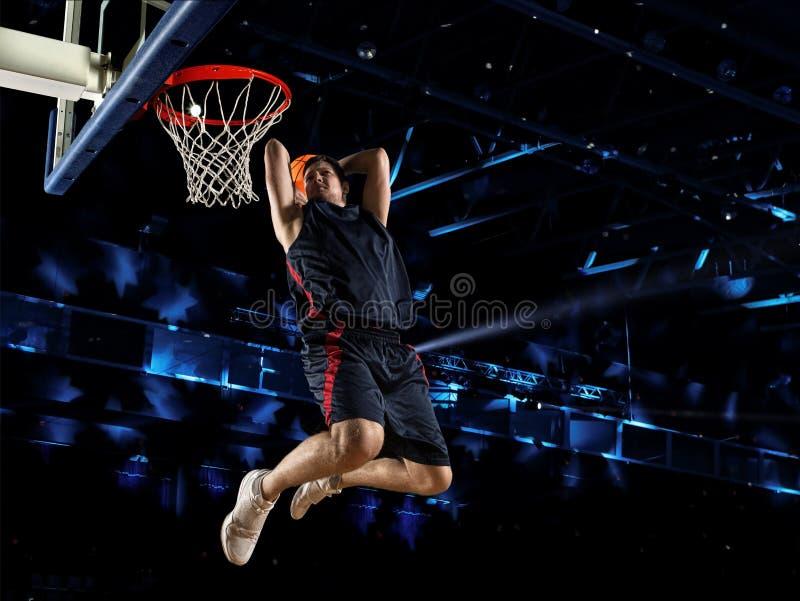 De speler van het mensenbasketbal royalty-vrije stock afbeeldingen