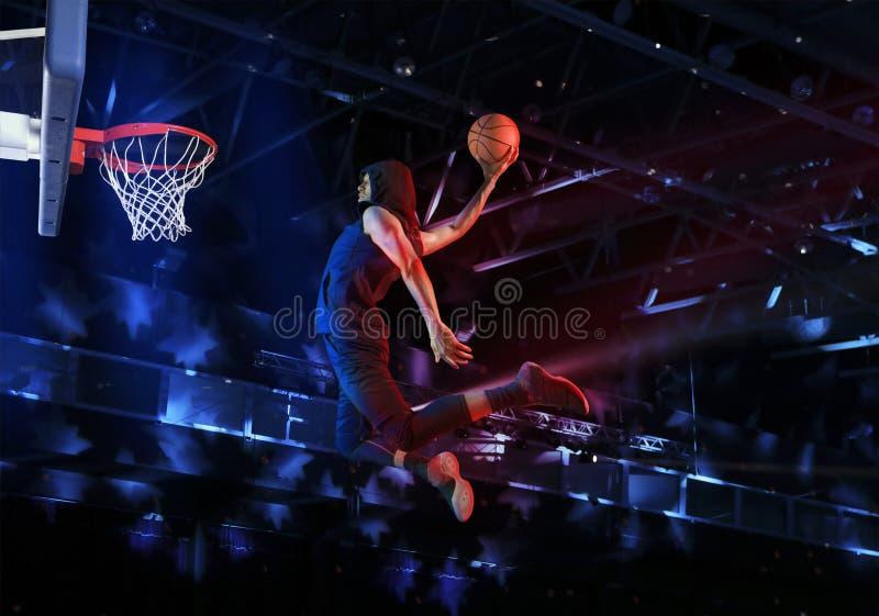 De speler van het mensenbasketbal royalty-vrije stock afbeelding