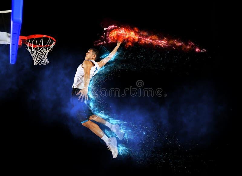 De speler van het Mnabasketbal stock afbeeldingen