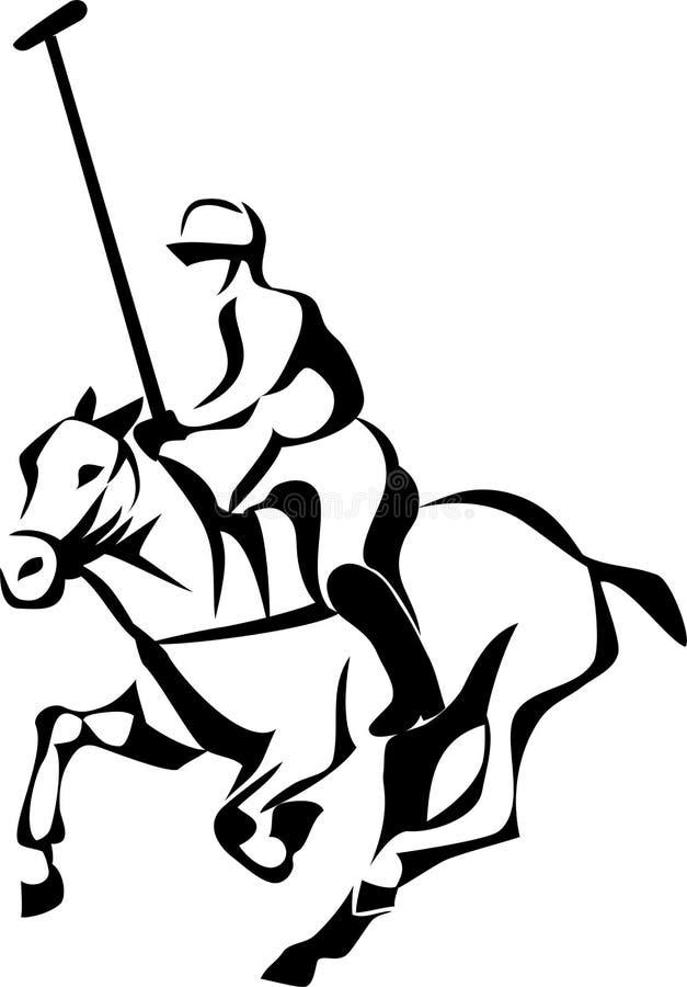 De speler van het paardpolo royalty-vrije illustratie