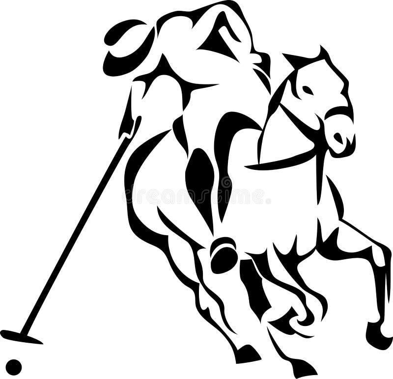 De speler van het paardpolo vector illustratie