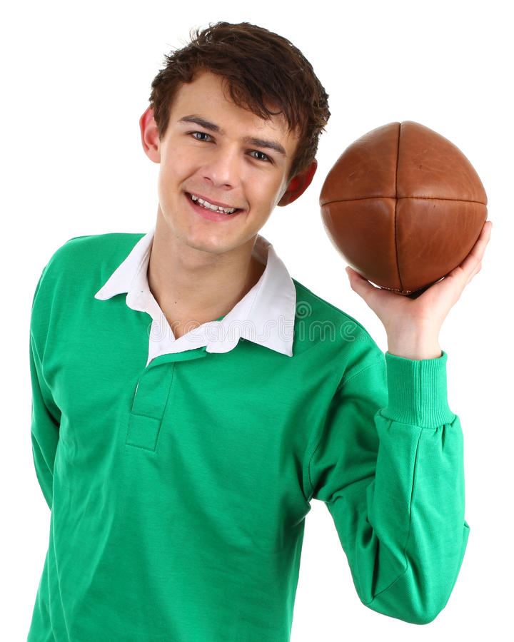 De speler van het rugby stock foto's