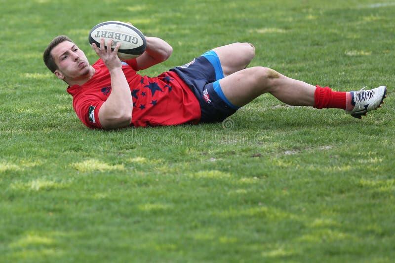De speler van het rugby royalty-vrije stock afbeeldingen