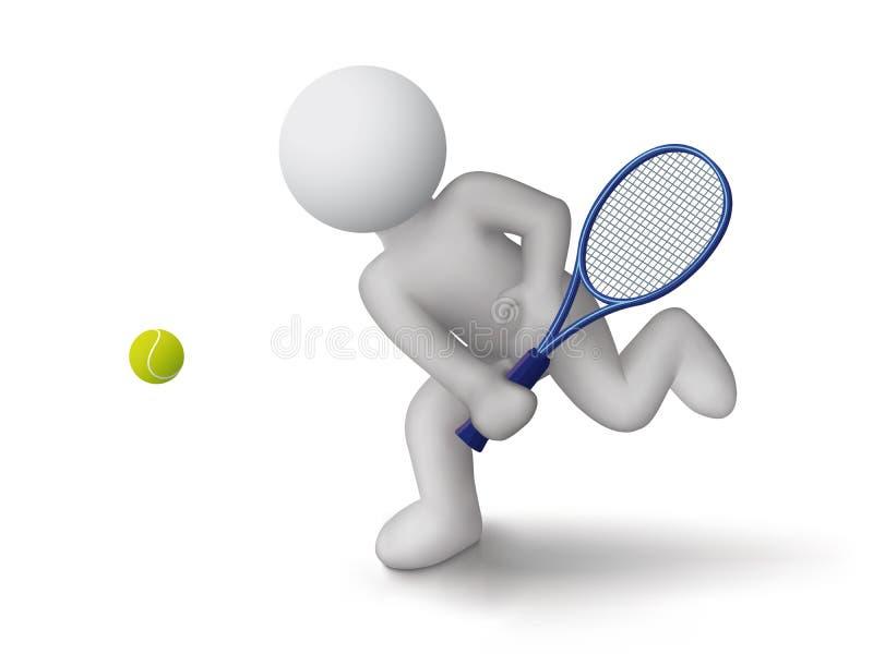 De speler van het tennis vector illustratie
