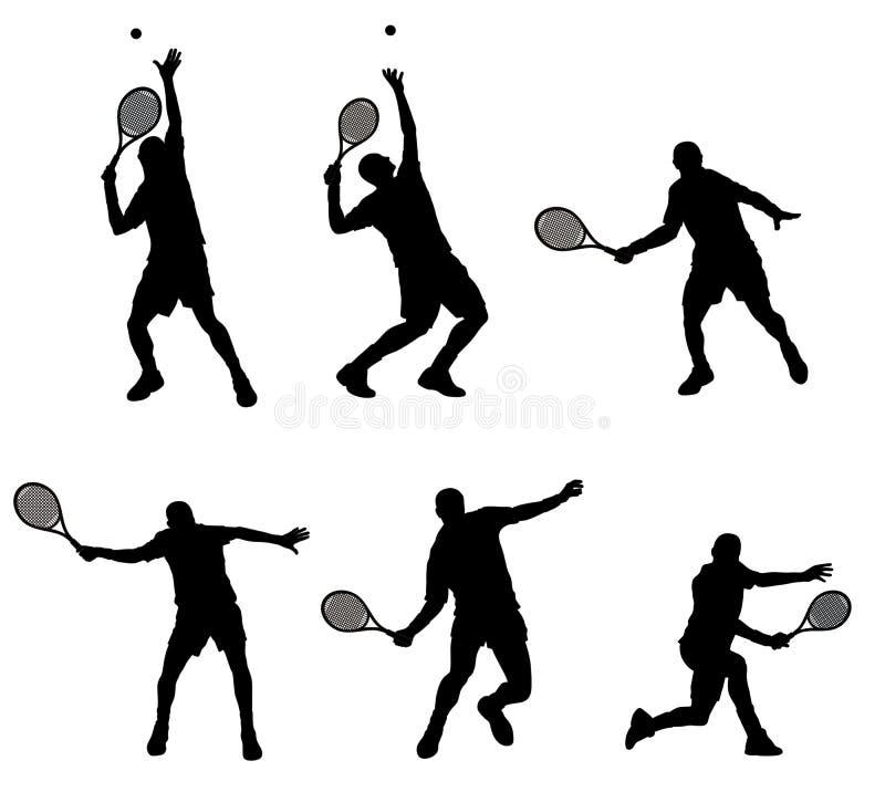 De speler van het tennis royalty-vrije illustratie