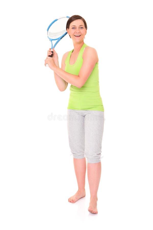 De speler van het tennis stock afbeeldingen