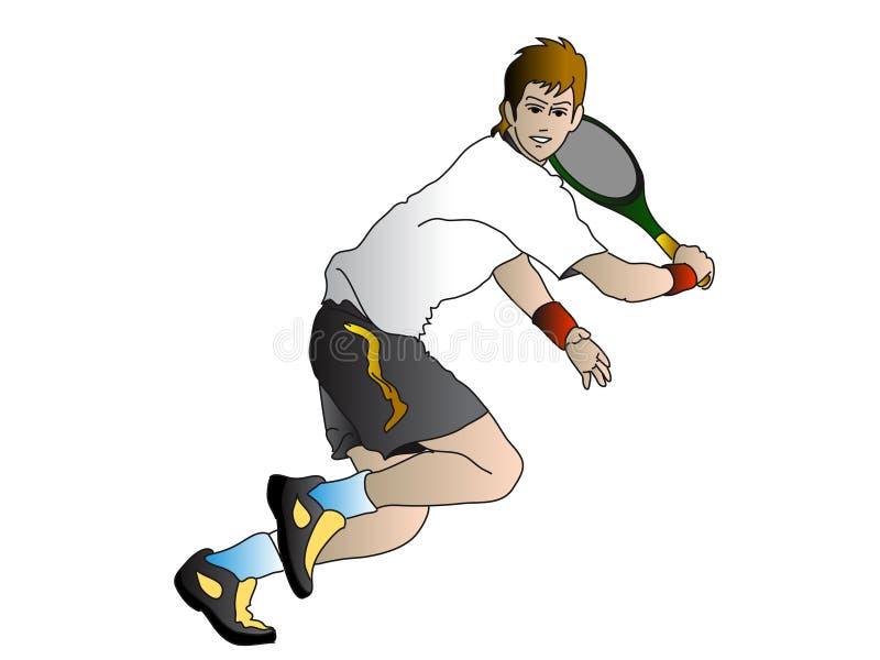 De speler van het tennis stock illustratie