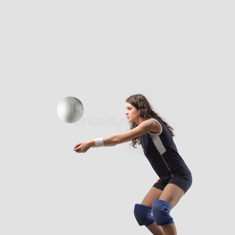 De speler van het volleyball stock afbeelding