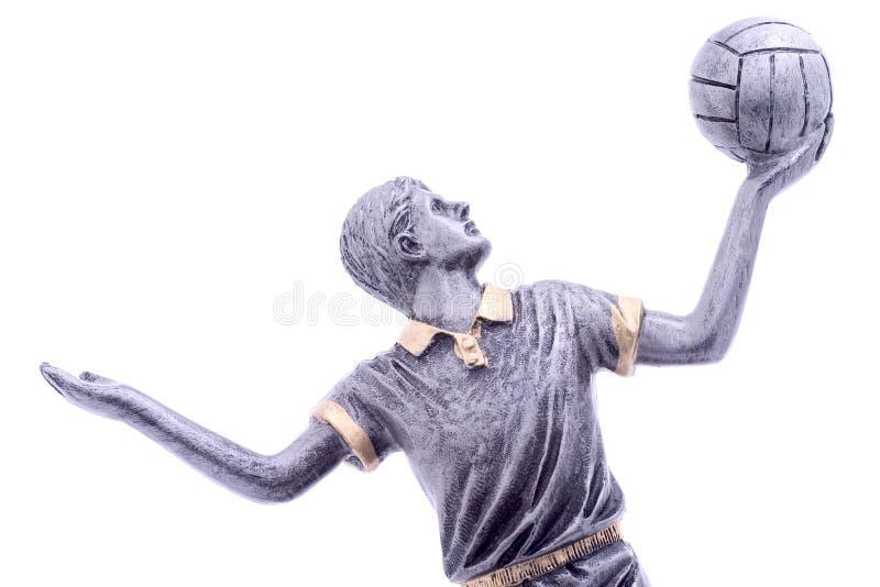 De speler van het volleyball stock fotografie