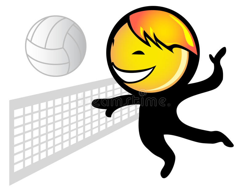 De speler van het volleyball royalty-vrije stock fotografie