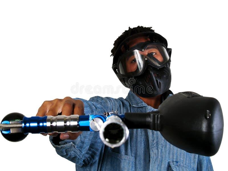 De Speler van Paintball stock foto