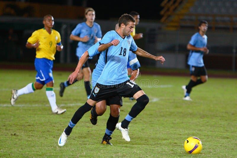 De speler van Uruguay stock foto's
