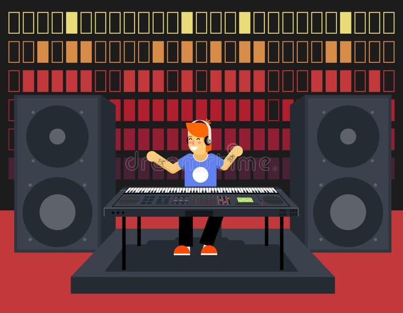 De Spelerconcept van musicussynthesizer modern music royalty-vrije illustratie