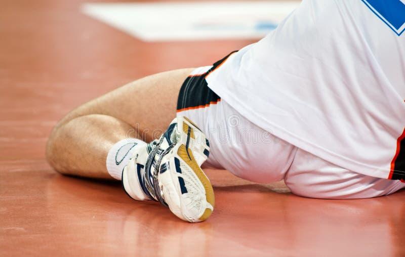De speleropwarming van het volleyball royalty-vrije stock fotografie