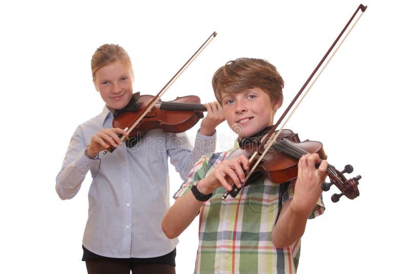 De spelers van de viool royalty-vrije stock afbeeldingen