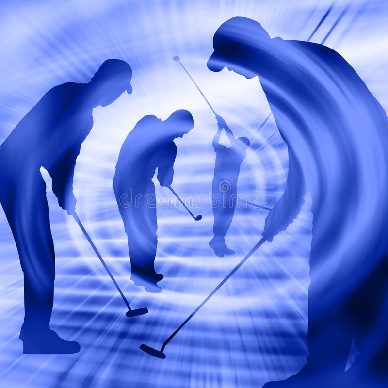 De Spelers van het golf stock illustratie
