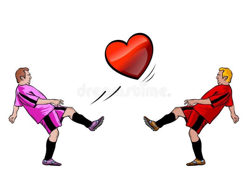 De spelers van het hart royalty-vrije illustratie