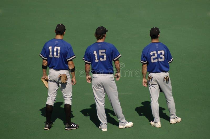 De Spelers Van Het Honkbal Royalty-vrije Stock Afbeelding