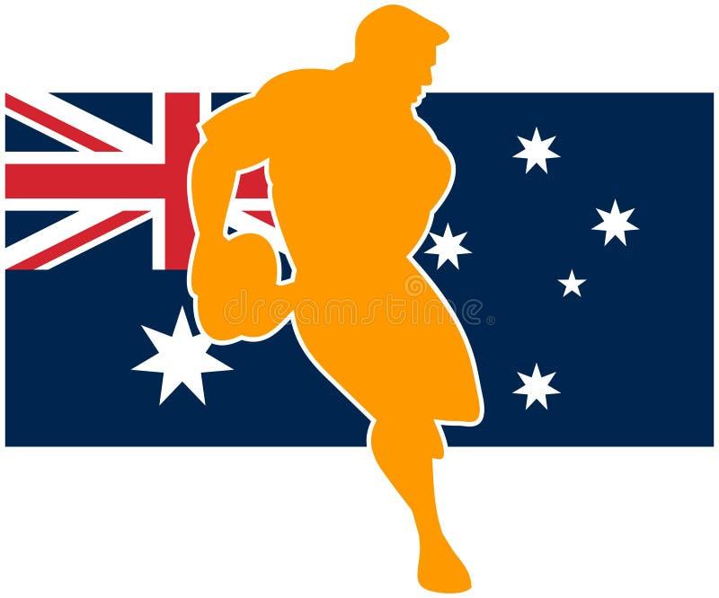 De spelervlag van het rugby van Australië stock illustratie