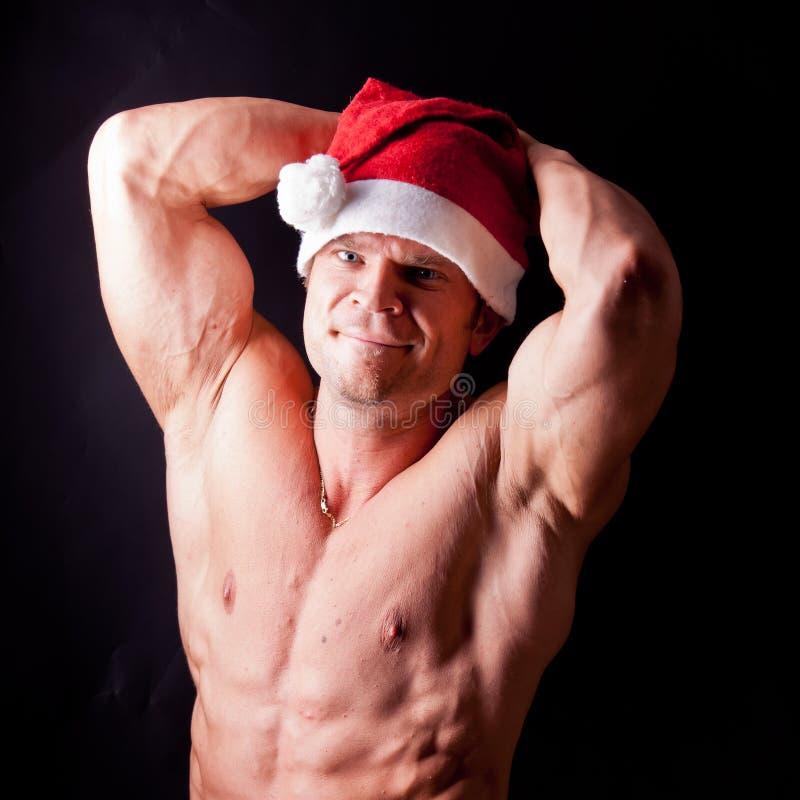 De spier Kerstman royalty-vrije stock foto's