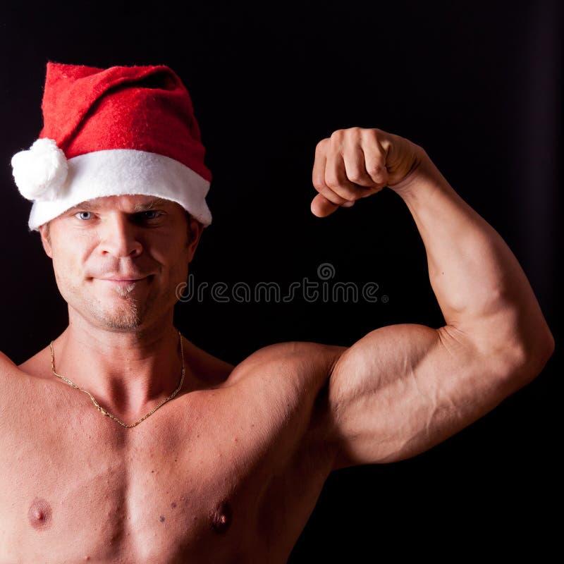 De spier Kerstman royalty-vrije stock fotografie