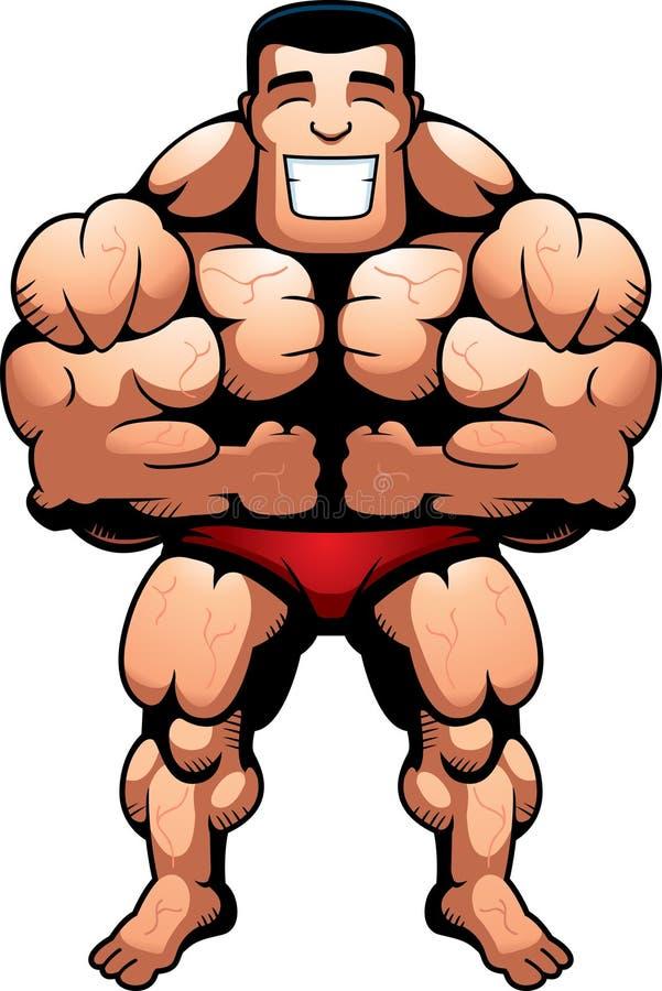 De Spieren van de bodybuilder royalty-vrije illustratie