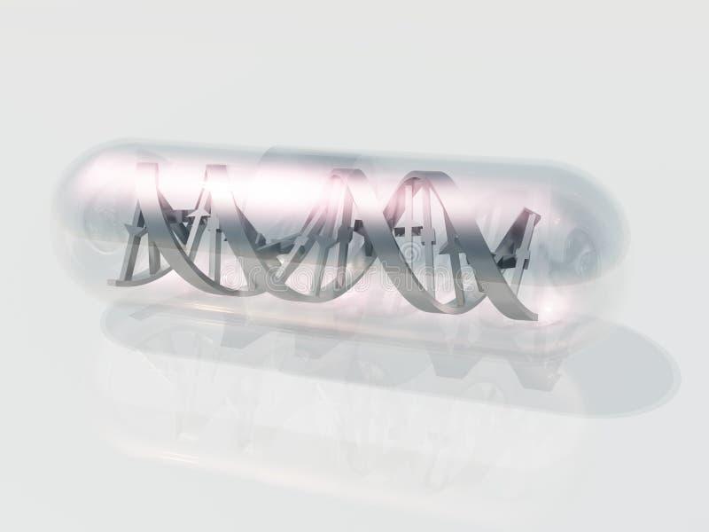 De Capsule van DNA stock illustratie