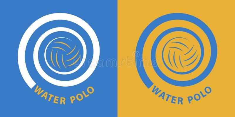 De spiraal van het waterpolo royalty-vrije illustratie