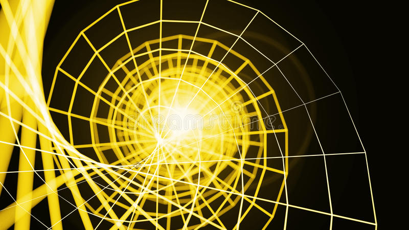 De spiraal van Wireframedna - een skeletachtig driedimensioneel model van sur stock illustratie