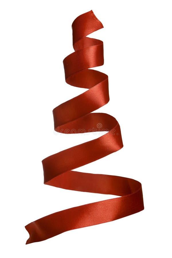 De spiraalvormige band kijkt als Kerstmisboom stock foto's