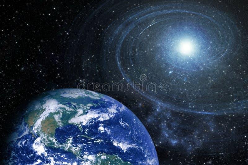 De spiraalvormige Elementen van de Starfieldmelkweg van dit die Beeld door NASA wordt geleverd stock foto's